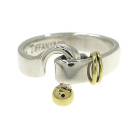 Tiffany & Co. Sterling Silver and 18K Yellow Gold Hockey Design Ring Size 6