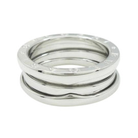 Bulgari B. Zero 1 18K White Gold Band Ring Size 7.25