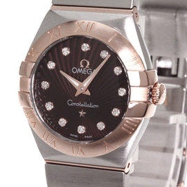 Omega Constellation 123.20.24.60.63.001 18K Pink Gold and Stainless Steel Quartz 24 mm Womens Watch