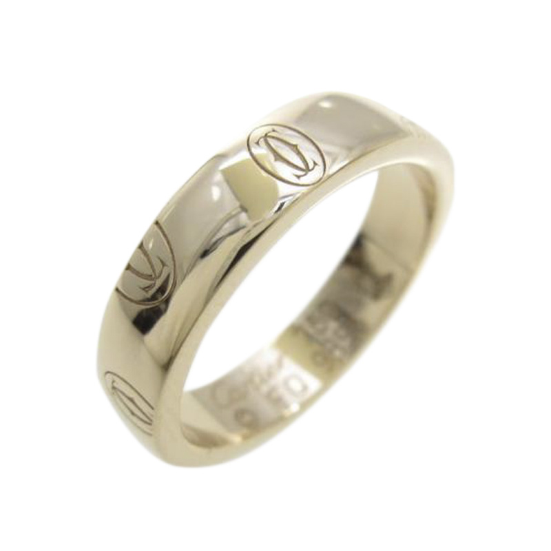 """Image of """"Cartier 750 Rose Gold Happy Birthday Small Ring Size 4.0"""""""