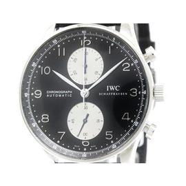 IWC Portuguese IW371404 Chronograph Stainless Steel & Leather Automatic 41mm Mens Watch