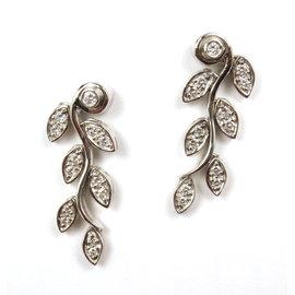 Tiffany & Co. Garland Platinum Diamond Drop Dangle Earrings