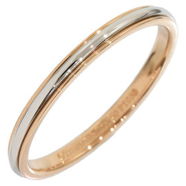 Tiffany & Co. 18k Rose Gold and Platinum Lucida Band Ring Size 7.5