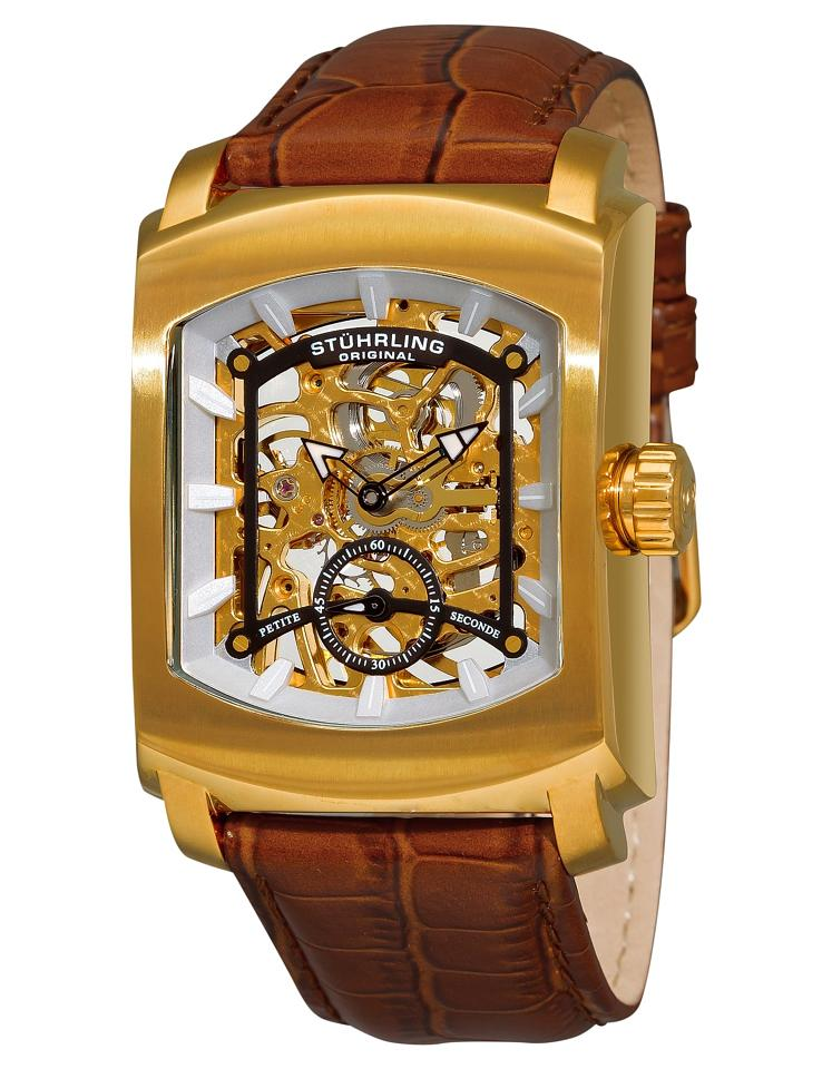"Image of ""Stuhrling Midtown Banker 317.3335K31 Gold-Tone Stainless Steel &"""