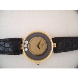 Chopard Vintage Happy 0.15ct Diamonds 18K Yellow Gold 24mm Womens Watch