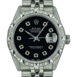 Rolex Datejust 16013 18K White Gold / Stainless Steel Vintage 36mm Mens Watch