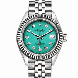 Rolex Datejust Stainless Steel with Green Dial 36mm Mens Watch
