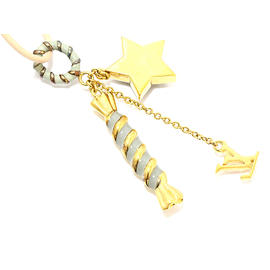 Louis Vuitton Gold-Tone Star, LV Logo and Candy Charm Necklace
