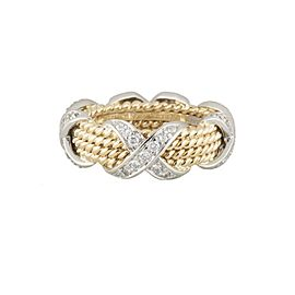 Tiffany & Co. Schlumberger 18K Yellow Gold with 0.54ct. Rope Ring Size 7