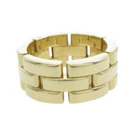 Cartier 18K Yellow Gold Maillon Panther Ring Size 4.5