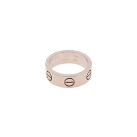 Cartier 18K White Gold Love Ring Size 4