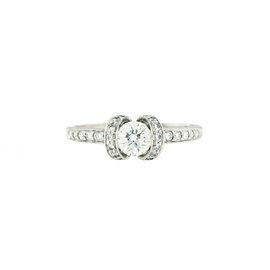 Tiffany & Co. Platinum 0.44ct Diamond Engagement Ring Size 5
