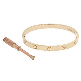 Cartier 18K Rose Gold Love Bracelet Size 18