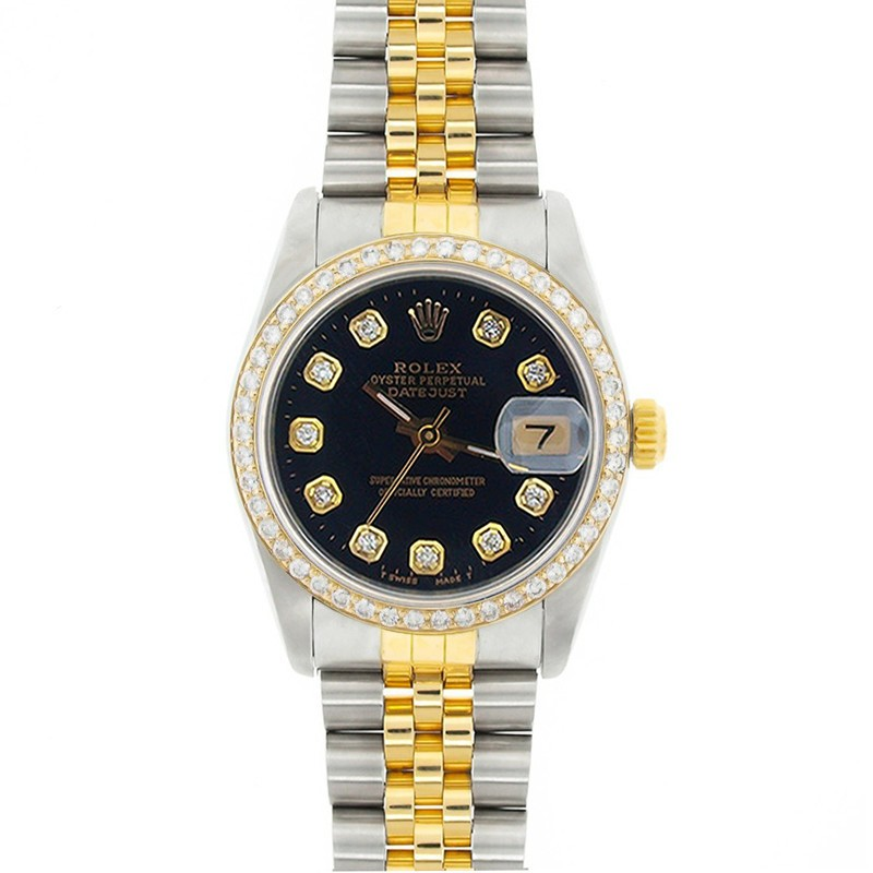"""Image of """"Rolex Datejust 68273 18K Yellow Gold & Stainless Steel Black Dial 31mm"""""""