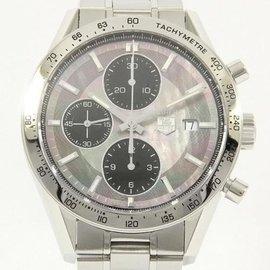 Tag Heuer CV201P. BA0794 Carrera Tachymeter Chrono Stainless Steel 41.5mm Men's Watch