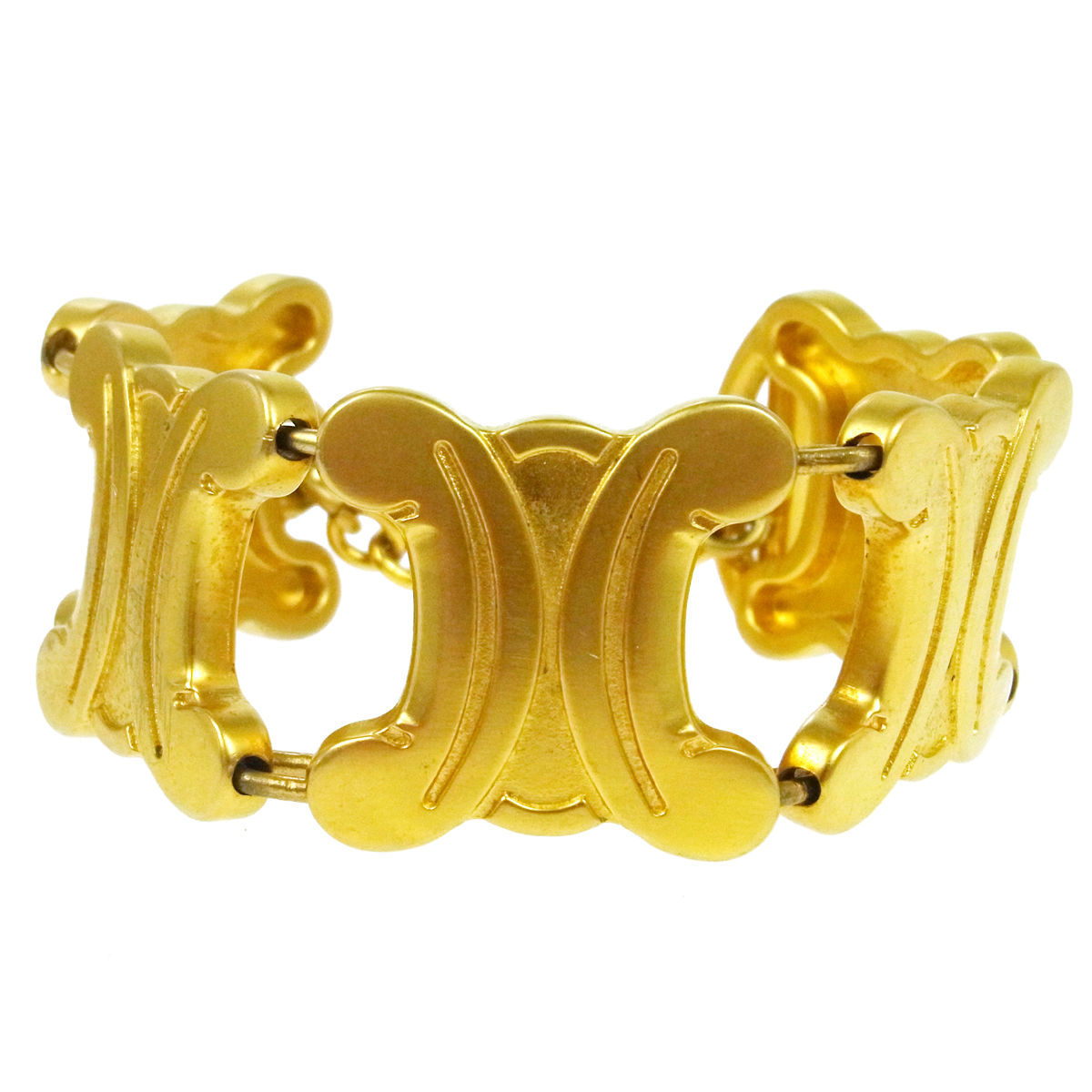 "Image of ""Celine Gold Tone Hardware Chain Bracelet"""