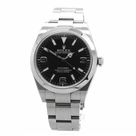 Rolex Explorer 214270 Stainless Steel Black Dial 39mm Watch