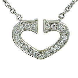 Cartier 18K White Gold with 0.50ct Diamond Necklace