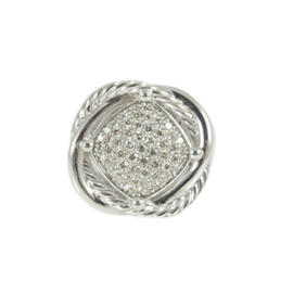 David Yurman Sterling Silver & .69tcw Diamond Infinity Ring Size 6.5