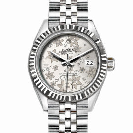 Rolex Datejust Stainless Steel with White Flower Dial 36mm Unisex Watch