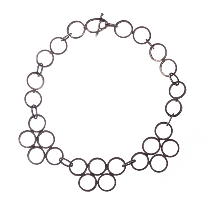 "Image of ""Hand Crafted Sterling Silver Circle Link Necklace"""