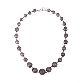 Art Deco Graduated Ball Bead Necklace