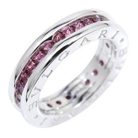 Bulgari B-zero 1 18K White Gold and Amethyst Ring Size 4.5