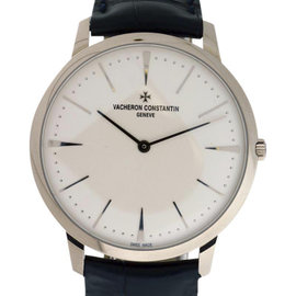 Vacheron Constantin Patrimony Grand Taille 18K White Gold Mens 40mm Watch