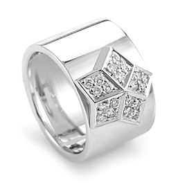 Fred of Paris 18K White Gold Diamond Star Ring
