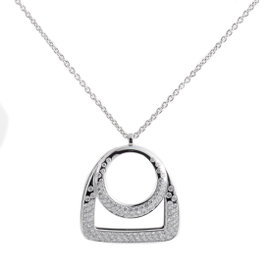 Fred of Paris 18K White Gold Diamond Pendant Necklace