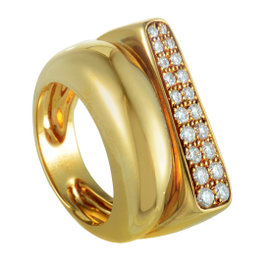 Fred of Paris 18K Yellow Gold and 0.65 Diamond Ring