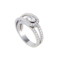 Fred of Paris Platinum .30ct Diamond Engagement Ring Size 5.5