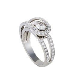 Fred of Paris Platinum .30ct Diamond Engagement Ring Size 6.75