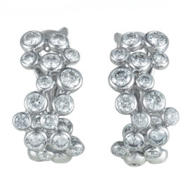 Fred of Paris Neige 18K White Gold Diamond Huggie Earrings