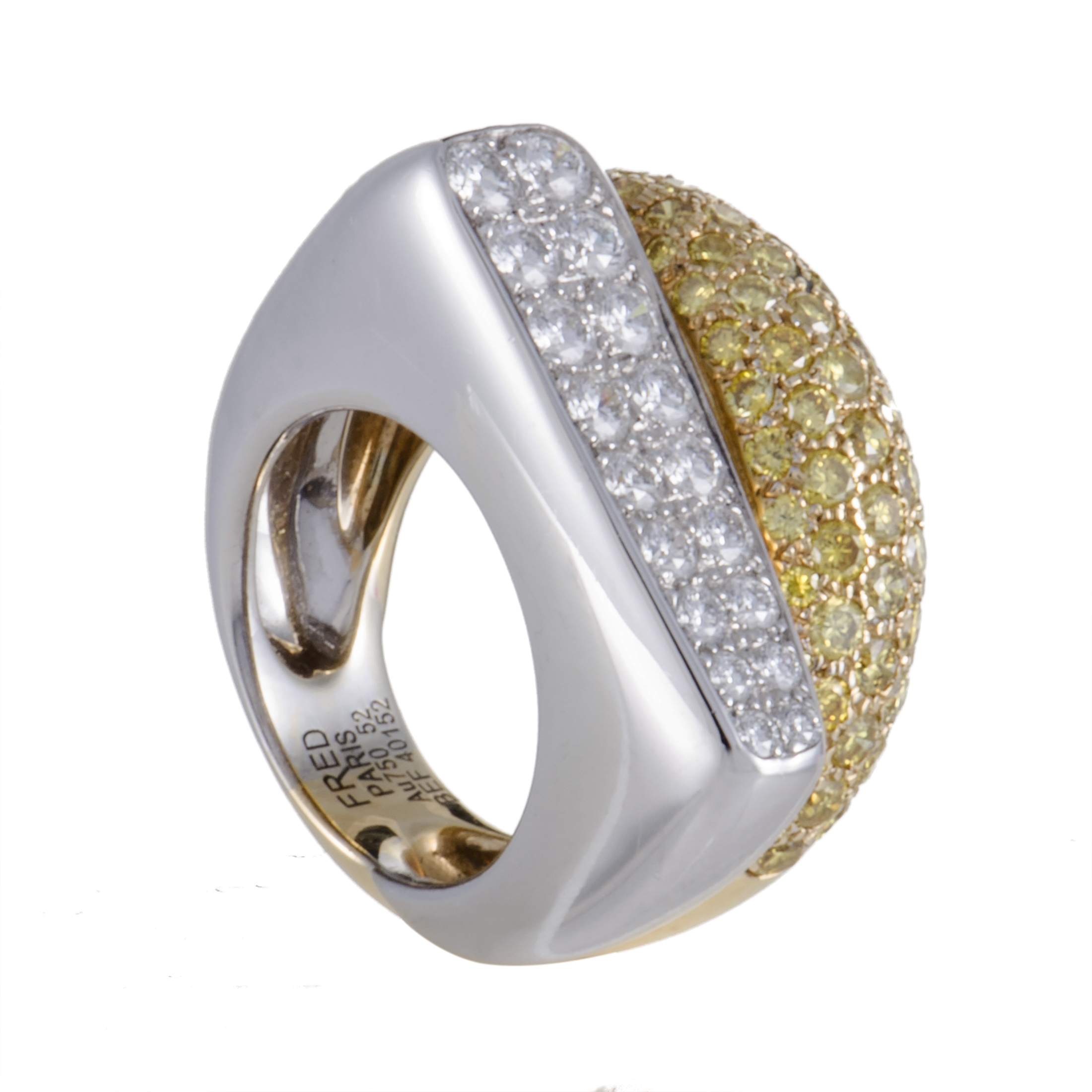 "Image of ""Fred of Paris 18K White and Yellow Gold Diamond Ring"""