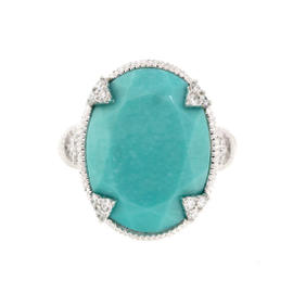 Monaco Oval Mexican Turquoise Ring