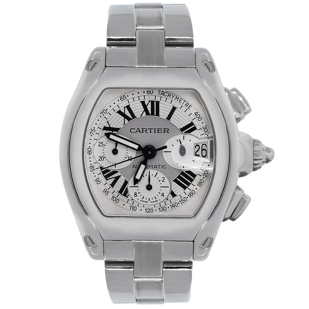 """Image of """"Cartier Roadster XL 2618 Stainless Steel Chronograph Dial 40mm Mens"""""""
