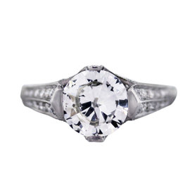 Platinum 2.10ct Diamond Engagement Ring Size 6.25