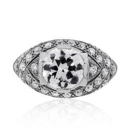 Platinum 2.19ct Diamond Engagement Ring Size 6.5