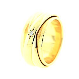 Piaget G34PY300 Possession Yellow Gold Band Ring Sz 54