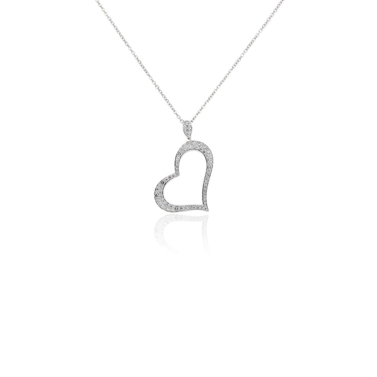 "Image of ""Piaget 18K White Gold 0.77ct. Diamond Heart Pendant Necklace"""