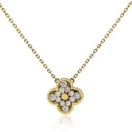 Van Cleef & Arpels Vintage Alhambra 18K Yellow Gold with Diamond Necklace