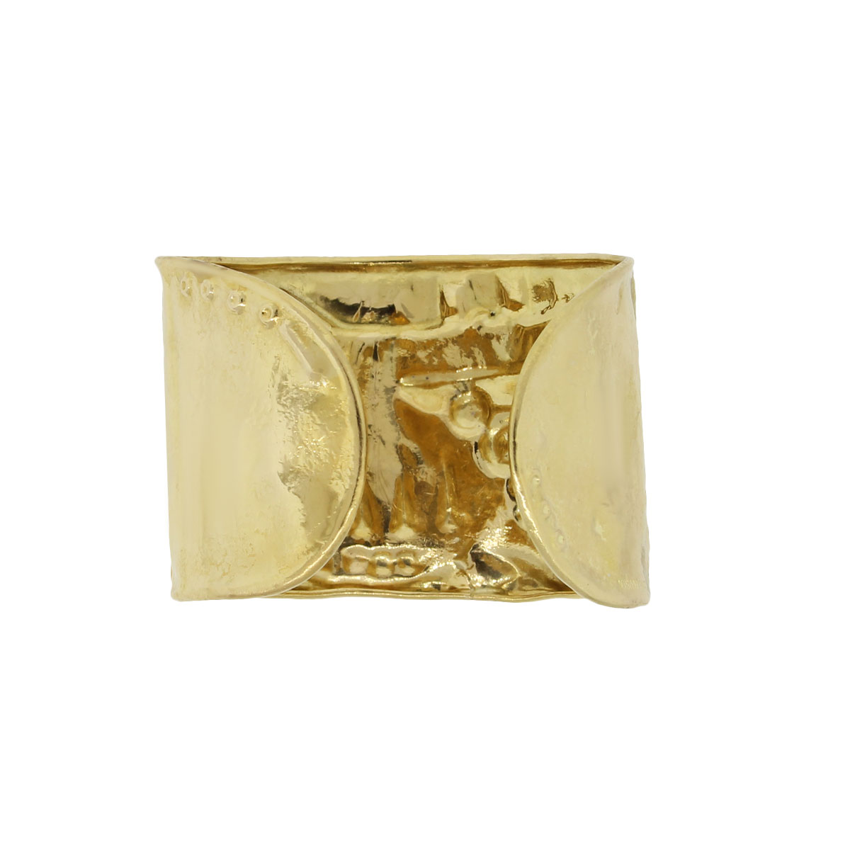 "Image of ""Misani 18K Yellow Gold Electroform Cuff Bangle"""