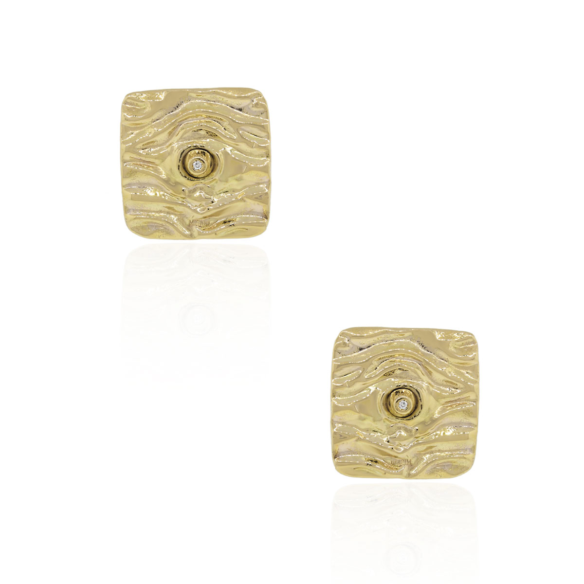 "Image of ""Misani 18K Yellow Gold Electroform 0.06ct. Diamond Earrings"""