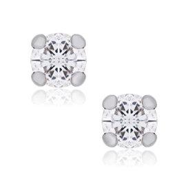 14K White Gold 0.72ctw Diamond Stud Earrings
