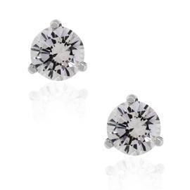14K White Gold 0.56ctw Diamond Stud Earrings