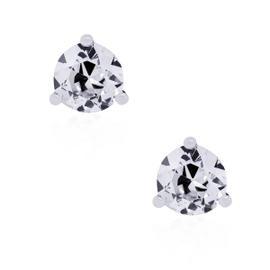 14K White Gold 0.87ctw Diamond Stud Earrings