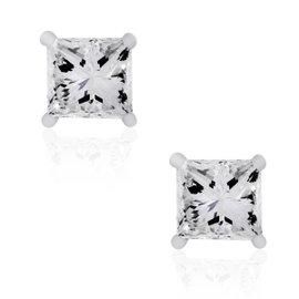 14K White Gold 1.96ctw Diamond Stud Earrings