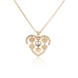 Chopard 18K Rose Gold Diamond Amore Floating Necklace