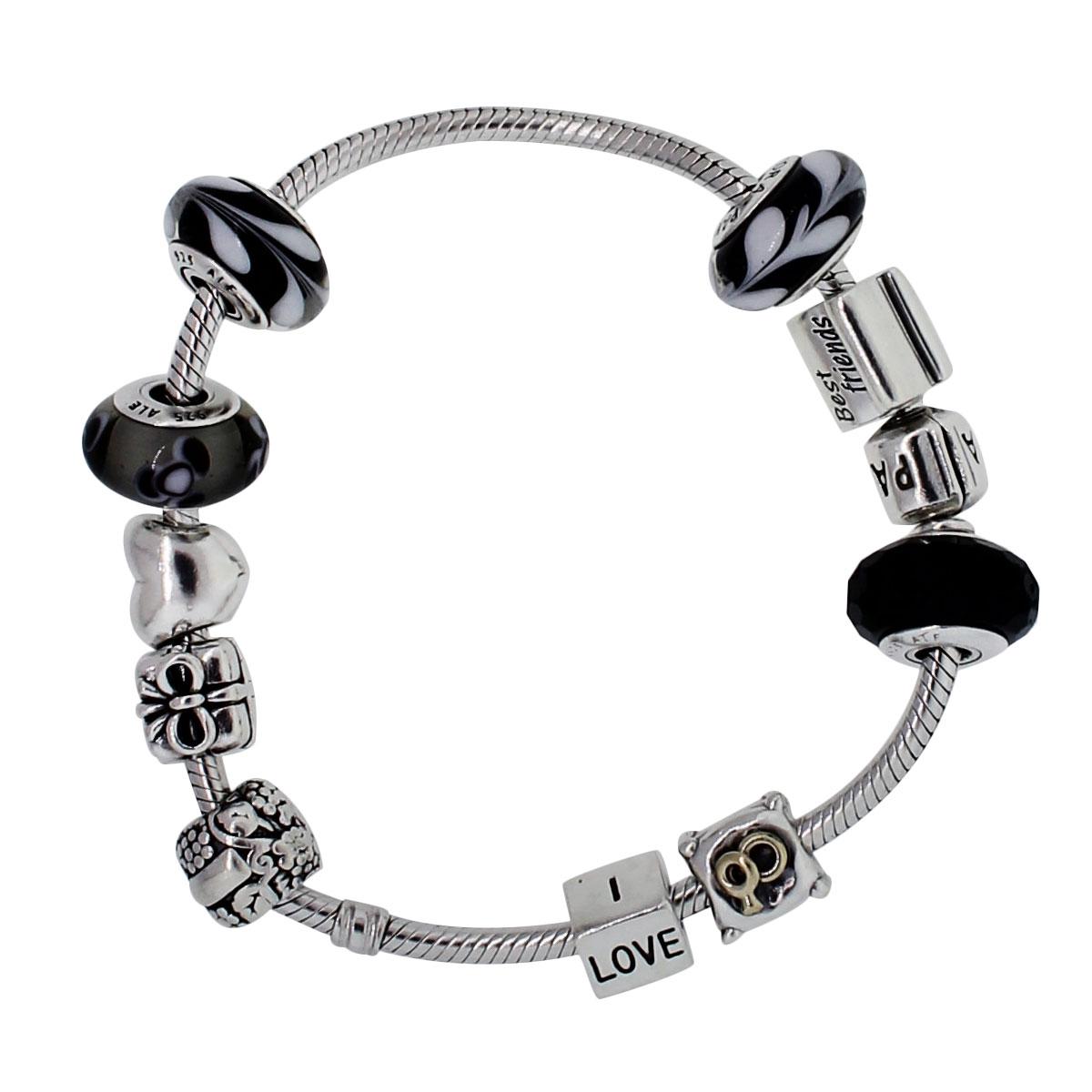 "Image of ""Pandora 925 Sterling Silver Charm Bracelet"""